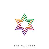 Star Circuit Illustration Vector Template. Suitable for Creative Industry, Multimedia, entertainment, Educations, Shop, and any related business.