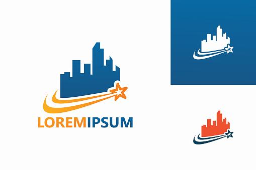 Star City Logo Template Design Vector, Emblem, Design Concept, Creative Symbol, Icon