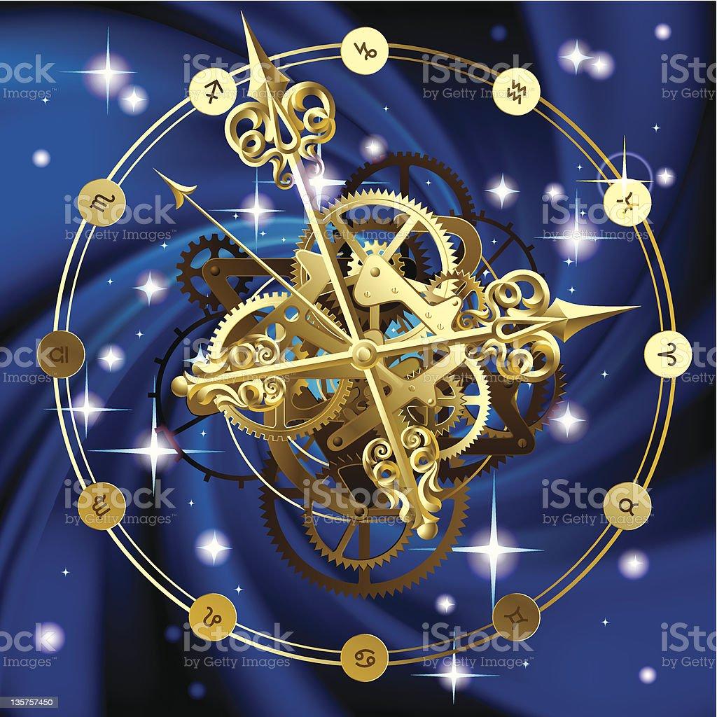 Star clock royalty-free stock vector art