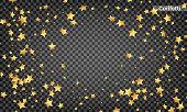 Star confetti. Festive design elements. Shiny flying confetti