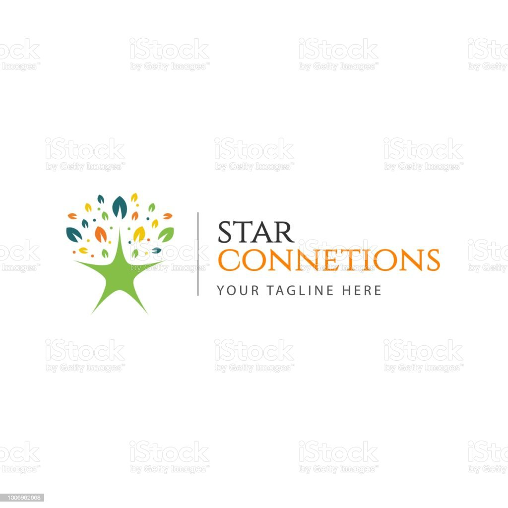 Star Connections Logo Vector Template Design Illustration Stock ...