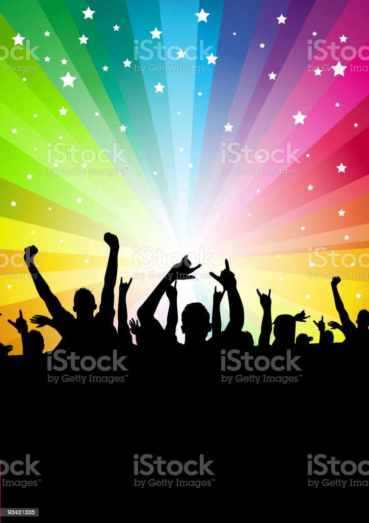 Star Crowd Background royalty-free stock vector art