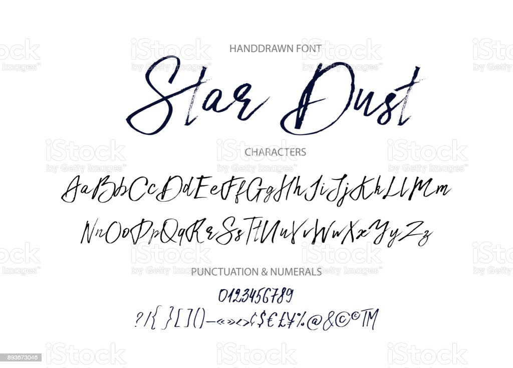 Star dust. Handdrawn vector font royalty-free star dust handdrawn vector font stock illustration - download image now
