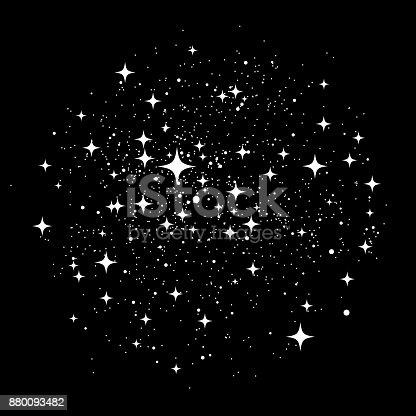Star dust christmas background