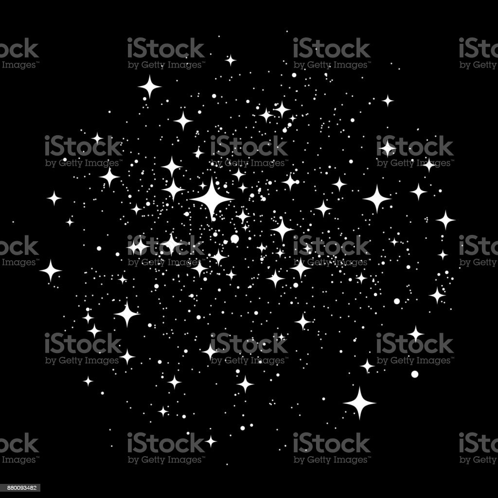 Star Dust vector art illustration