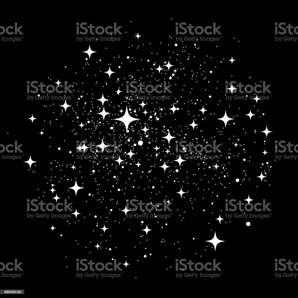 Polvo de estrellas - ilustración de arte vectorial