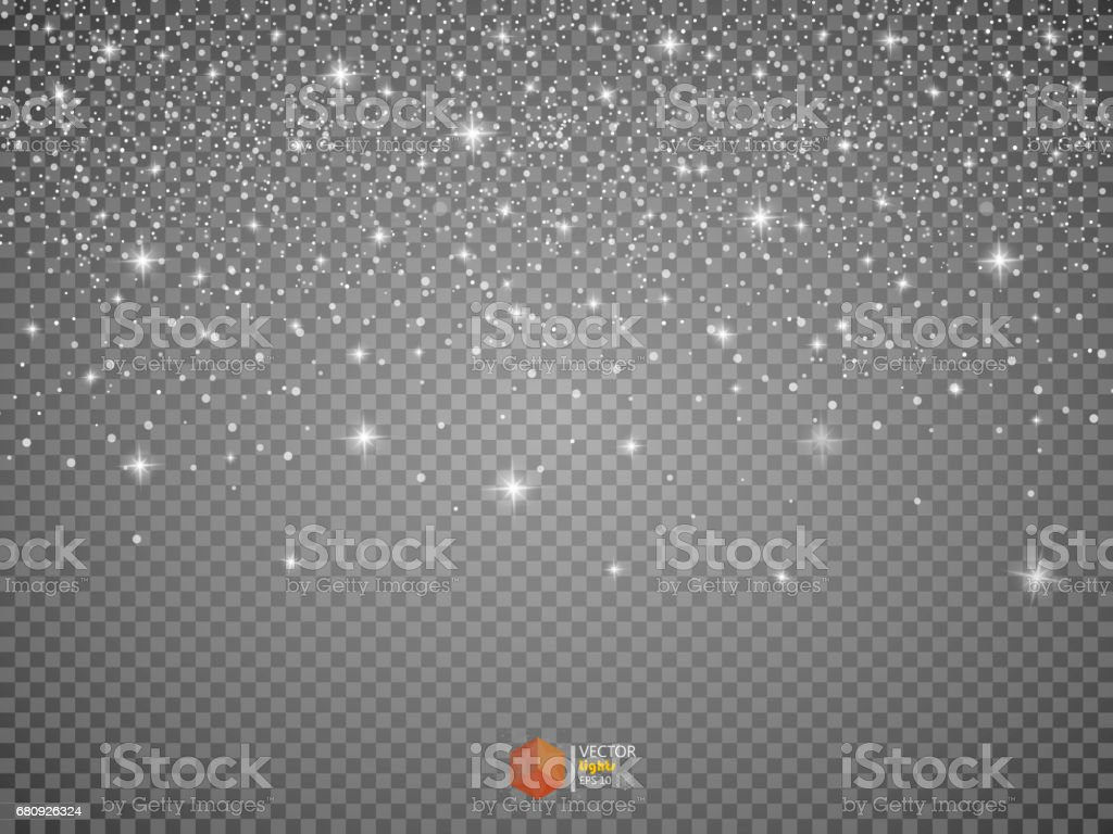 Star Effects. Stardust on a transparent background. Falling Star. vector art illustration