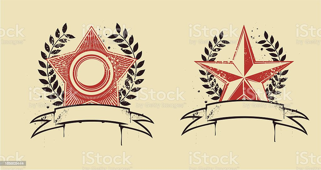 Star embems royalty-free star embems stock vector art & more images of achievement