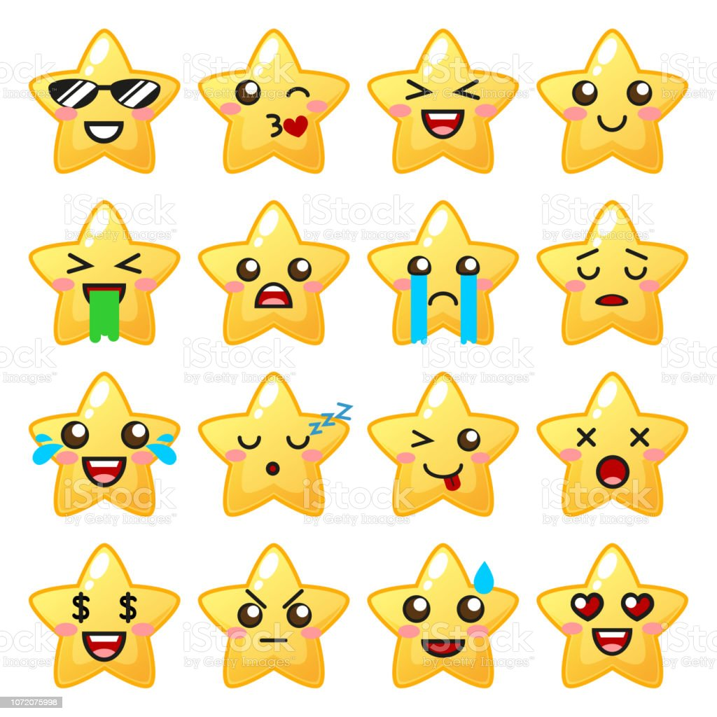 Star Emoji Cute Emoticons Stock Illustration Download Image Now Istock