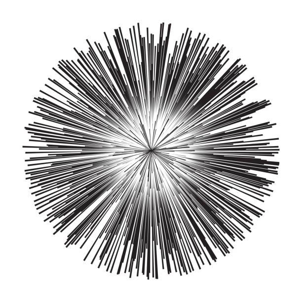 illustrazioni stock, clip art, cartoni animati e icone di tendenza di esplosione stellare, big bang - flare