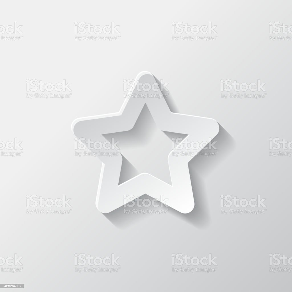 Star favorite sign web icon vector art illustration