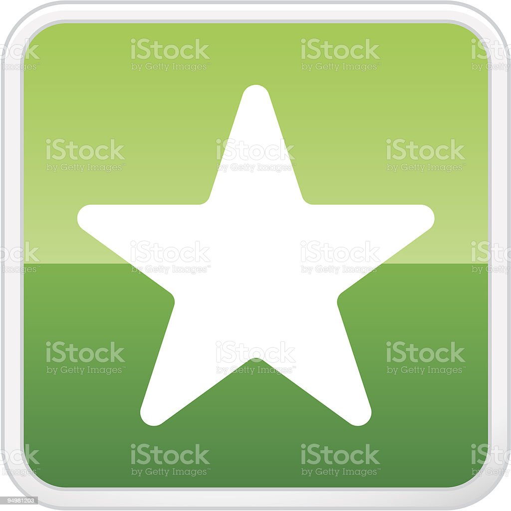 Star. Favorites. Vector button royalty-free stock vector art