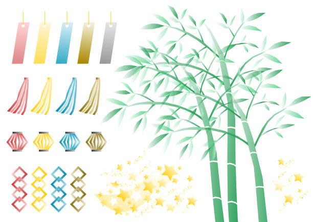 スター フェスティバルのアイコンを設定 - 七夕点のイラスト素材/クリップアート素材/マンガ素材/アイコン素材