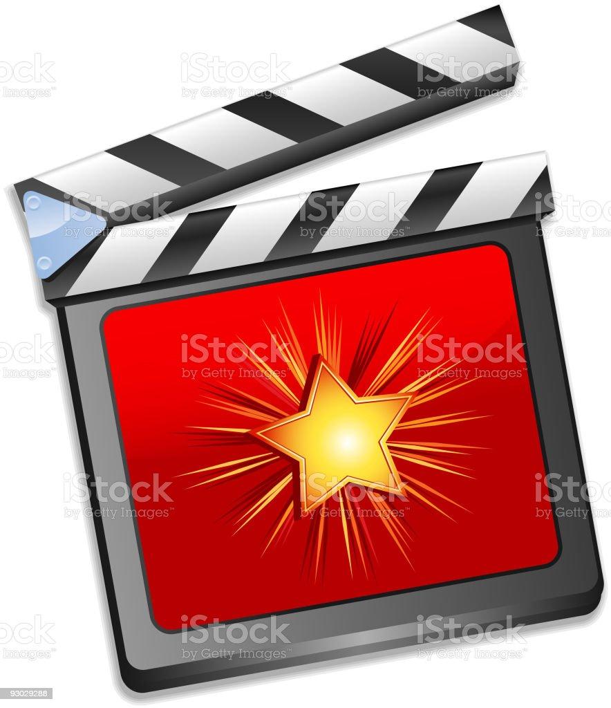 Star film slate royalty-free stock vector art
