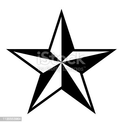 Star five corners Pentagonal star icon black color vector illustration flat style simple image