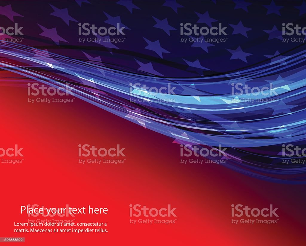 USA star flag design elements vector vector art illustration