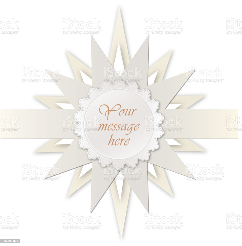 Star frame with copy space and ribbon. royalty-free stock vector art