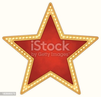 istock Star frame with lamps 183995575