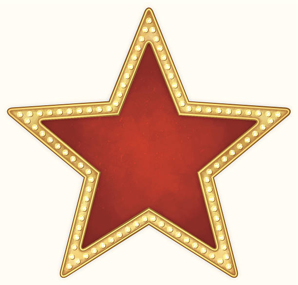 Star frame with lamps vector art illustration