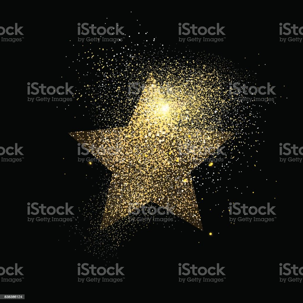 Star gold glitter art concept symbol illustration vector art illustration