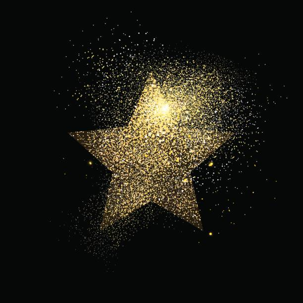 Star gold glitter art concept symbol illustration vector art illustration