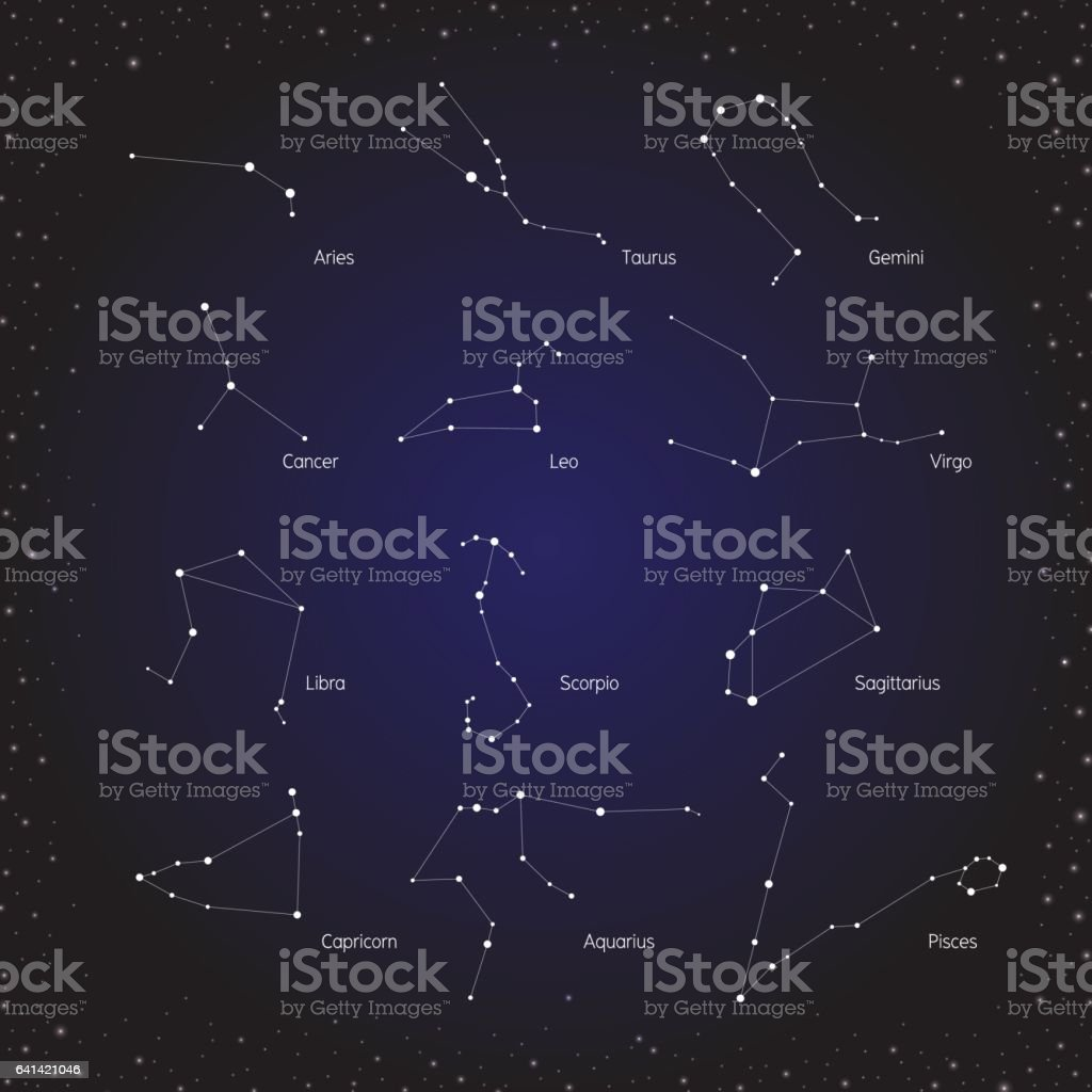 star horoscope zodiac in cosmos background vector art illustration