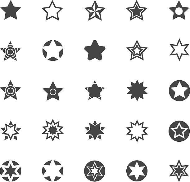 星印アイコンセット - 星のタトゥー点のイラスト素材/クリップアート素材/マンガ素材/アイコン素材