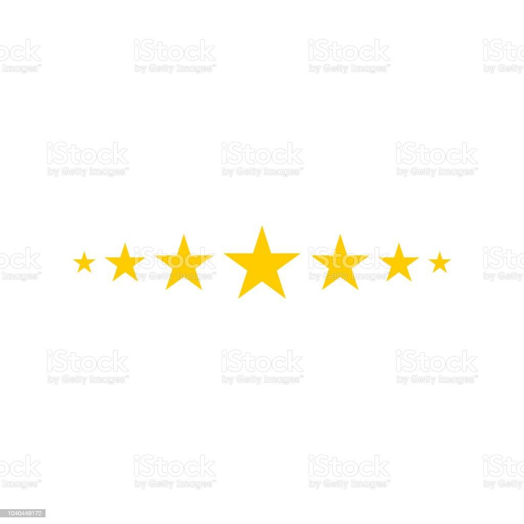 Sternsymbol Sternelogo Sternsymbol Sterne Vorlage Bereit Für