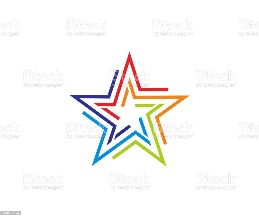 Star icon vector art illustration