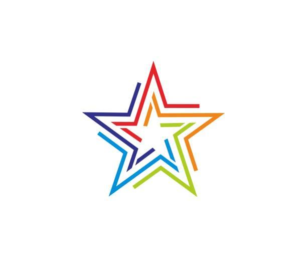 illustrations, cliparts, dessins animés et icônes de icône étoile - forme étoilée