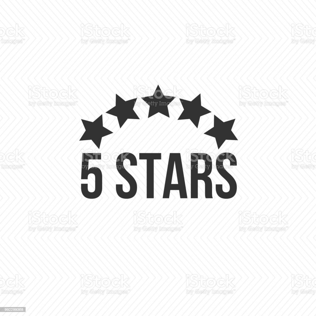 5 star icon vector illustration isolated badge for website or app.