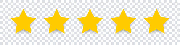 Star icon. Vector yellow isolated five stars. Customer feedback concept. Vector 5 stars rating review. Quality shape design. Star icon. Vector yellow isolated five stars. Customer feedback concept. Vector 5 stars rating review. Quality shape design. EPS 10 rating stock illustrations