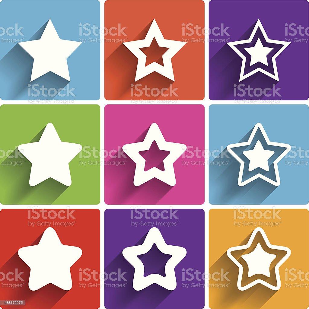 Star Icons Rating Stars Symbols Feedback Rating Stock Vector Art