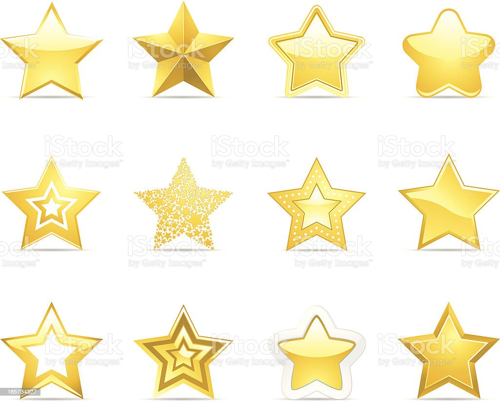 Star Icons vector art illustration