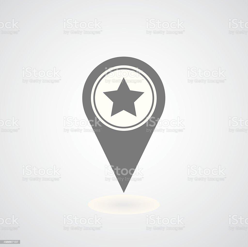 star in pointer vector art illustration