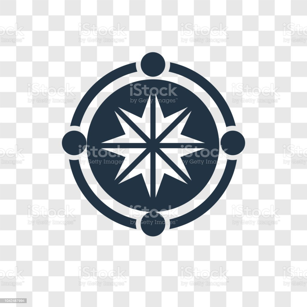 Star Inside Circle Vector Icon Isolated On Transparent Background