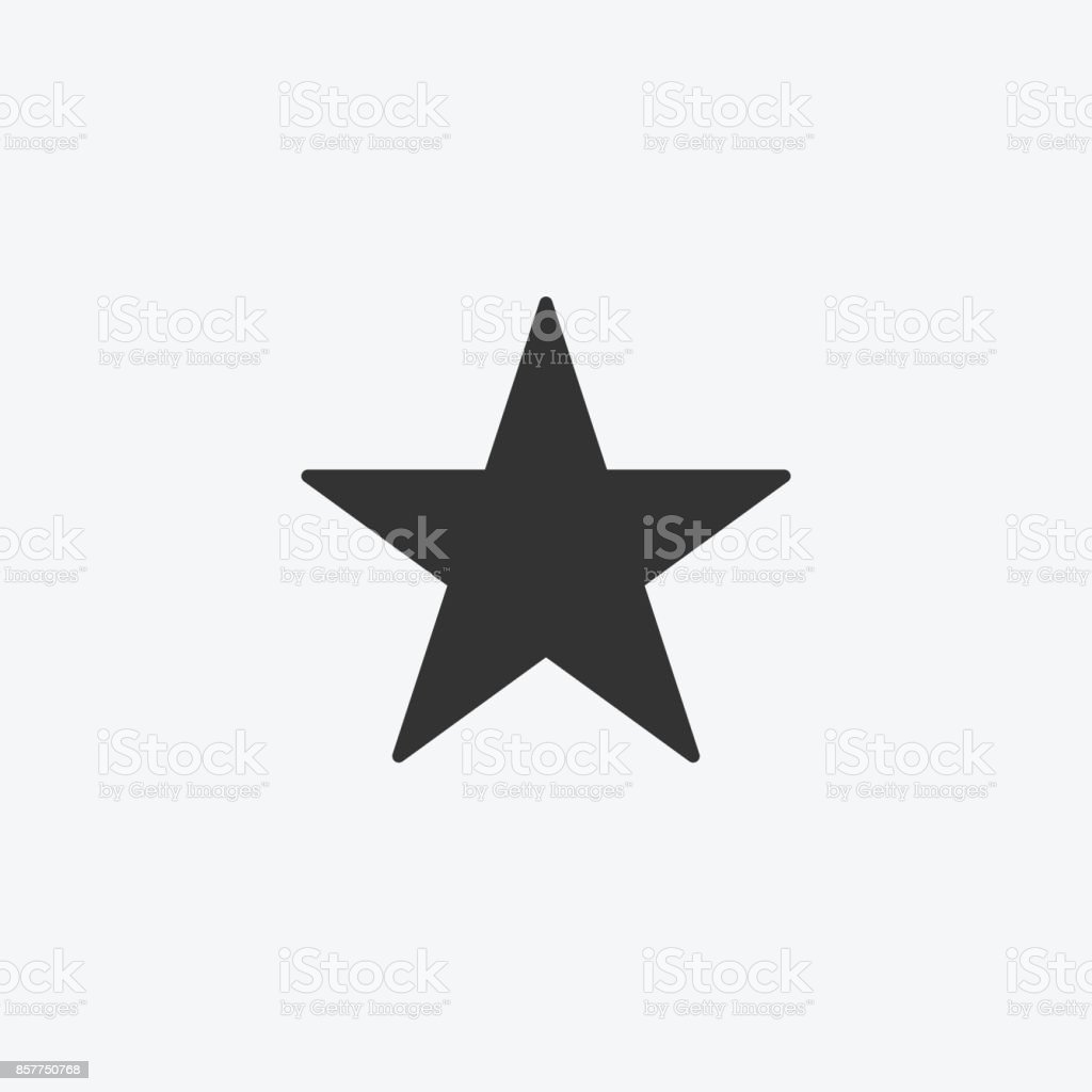 Star isolated flat web mobile icon. Vector graphic illustration