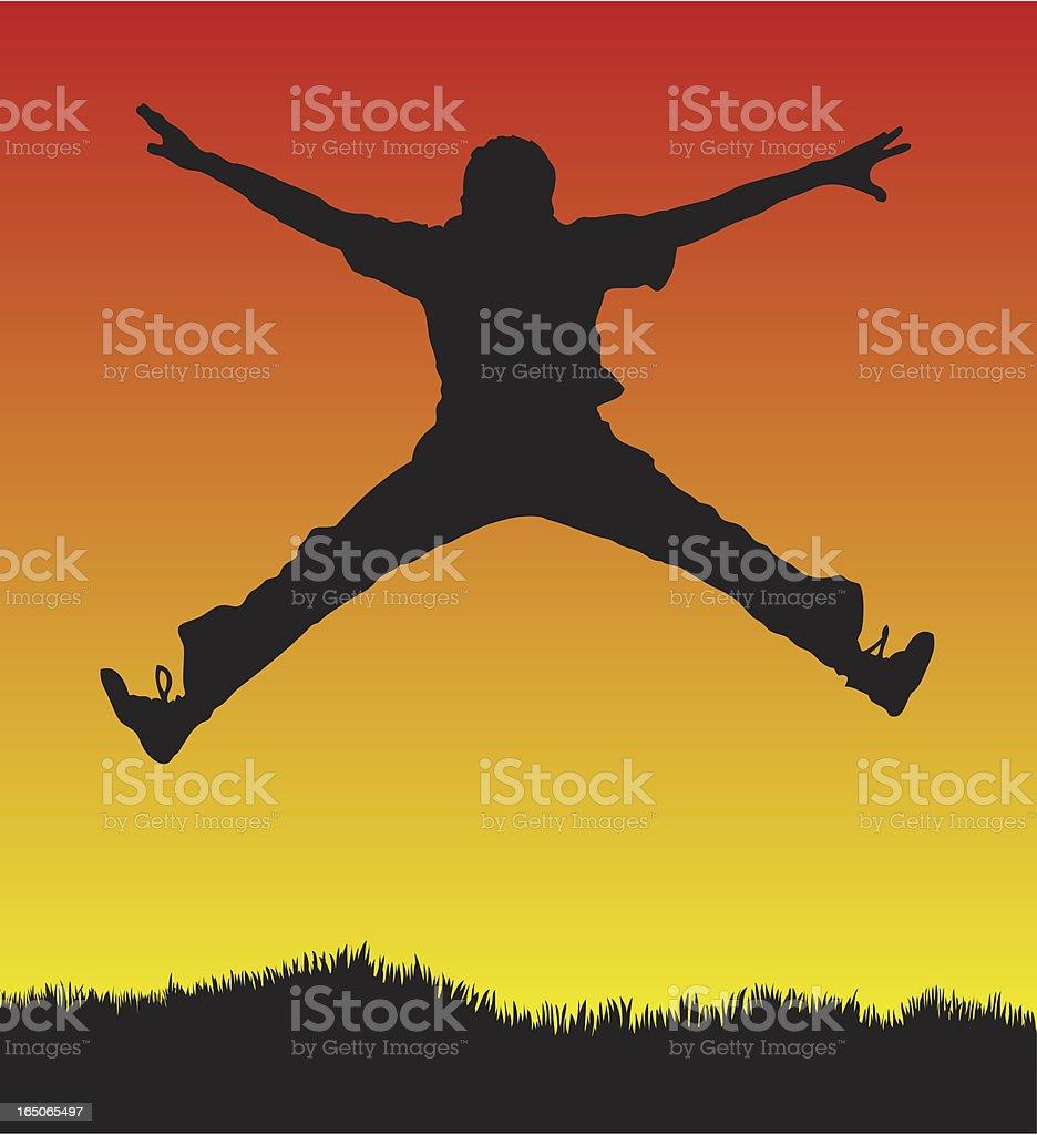 Star jump vector art illustration