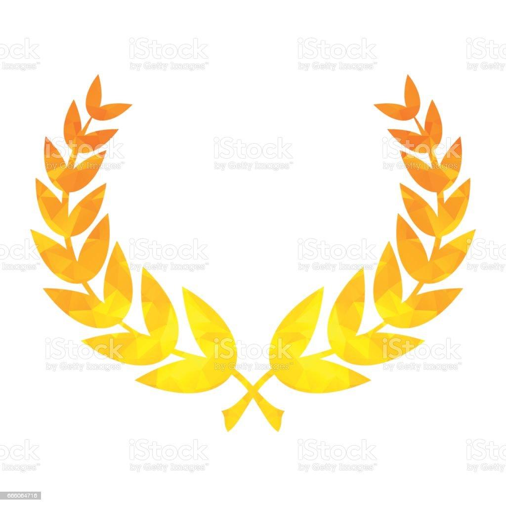 star laurel wreath of winner vector art illustration