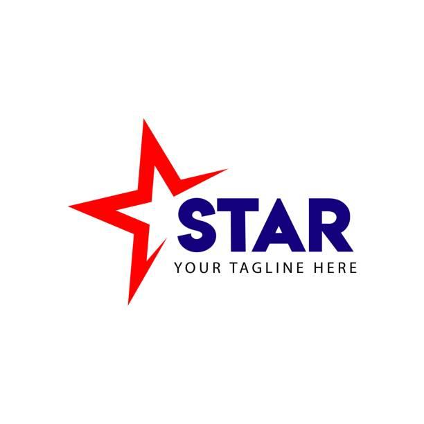 ilustracja projektu szablonu wektorowego z logo gwiazdy - kształt gwiazdy stock illustrations