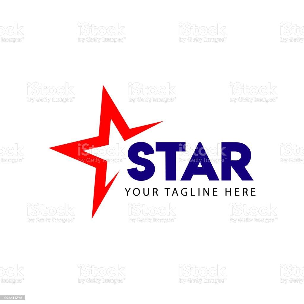 Insignia estrellas Vector plantilla diseño ilustración - ilustración de arte vectorial