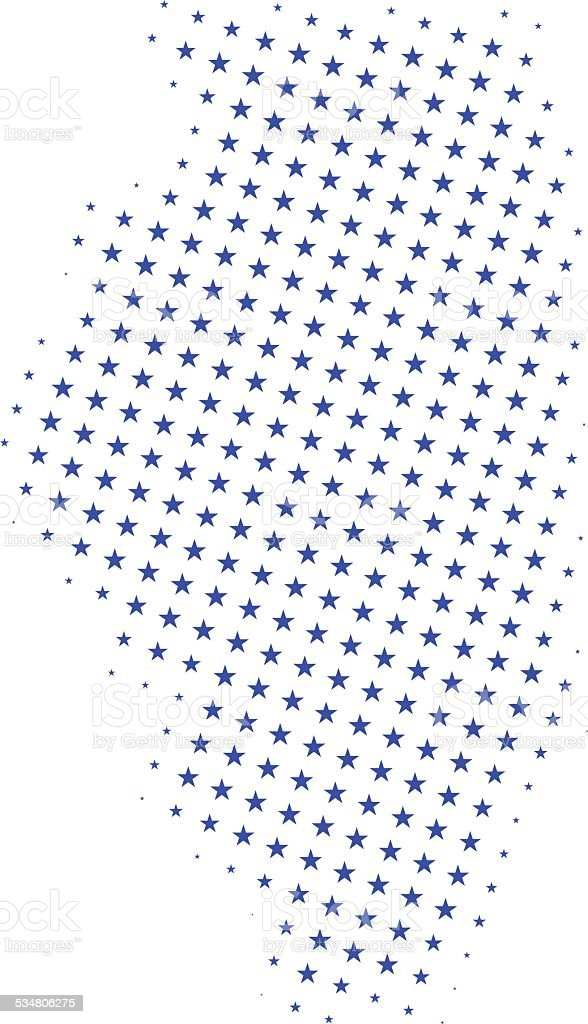 Star Map Of Illinois Stock Illustration - Download Image Now - iStock