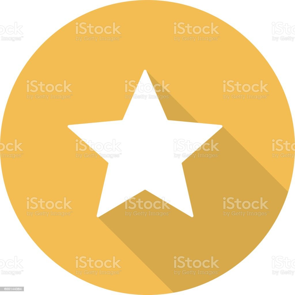 Star mark icon vector art illustration