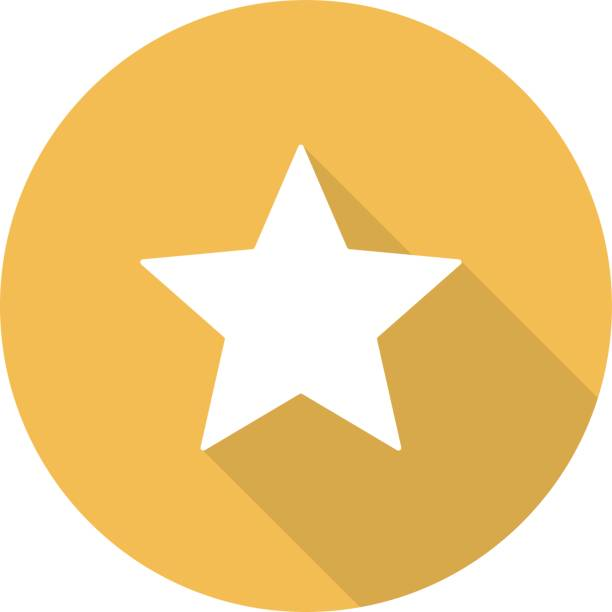 Star mark icon vector art illustration