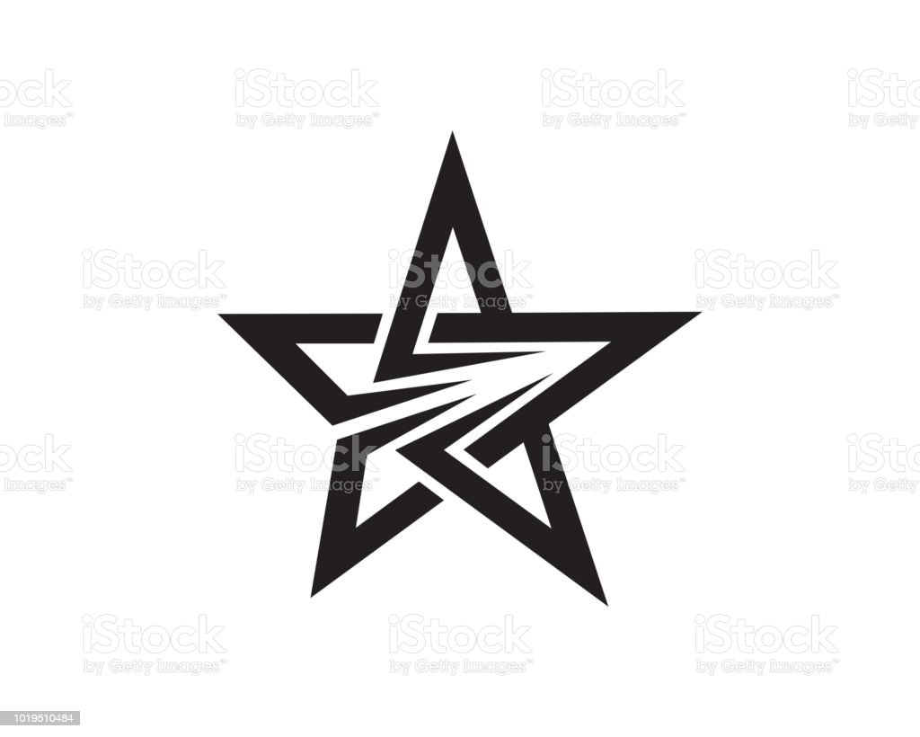 Star Monogram Symbol Design Template Stock Illustration Download Image Now Istock