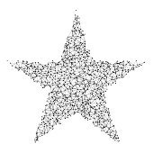 Star Network Black And White
