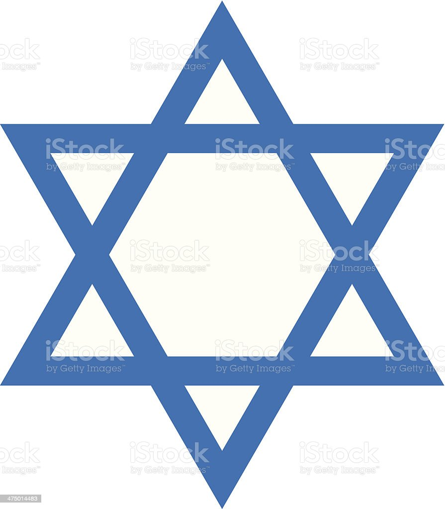 Star Of David C royalty-free stock vector art