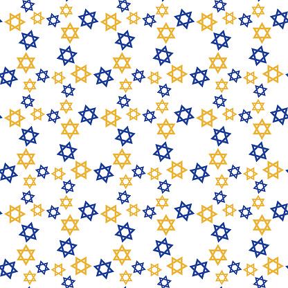 Star Of David Circles Seamless Pattern