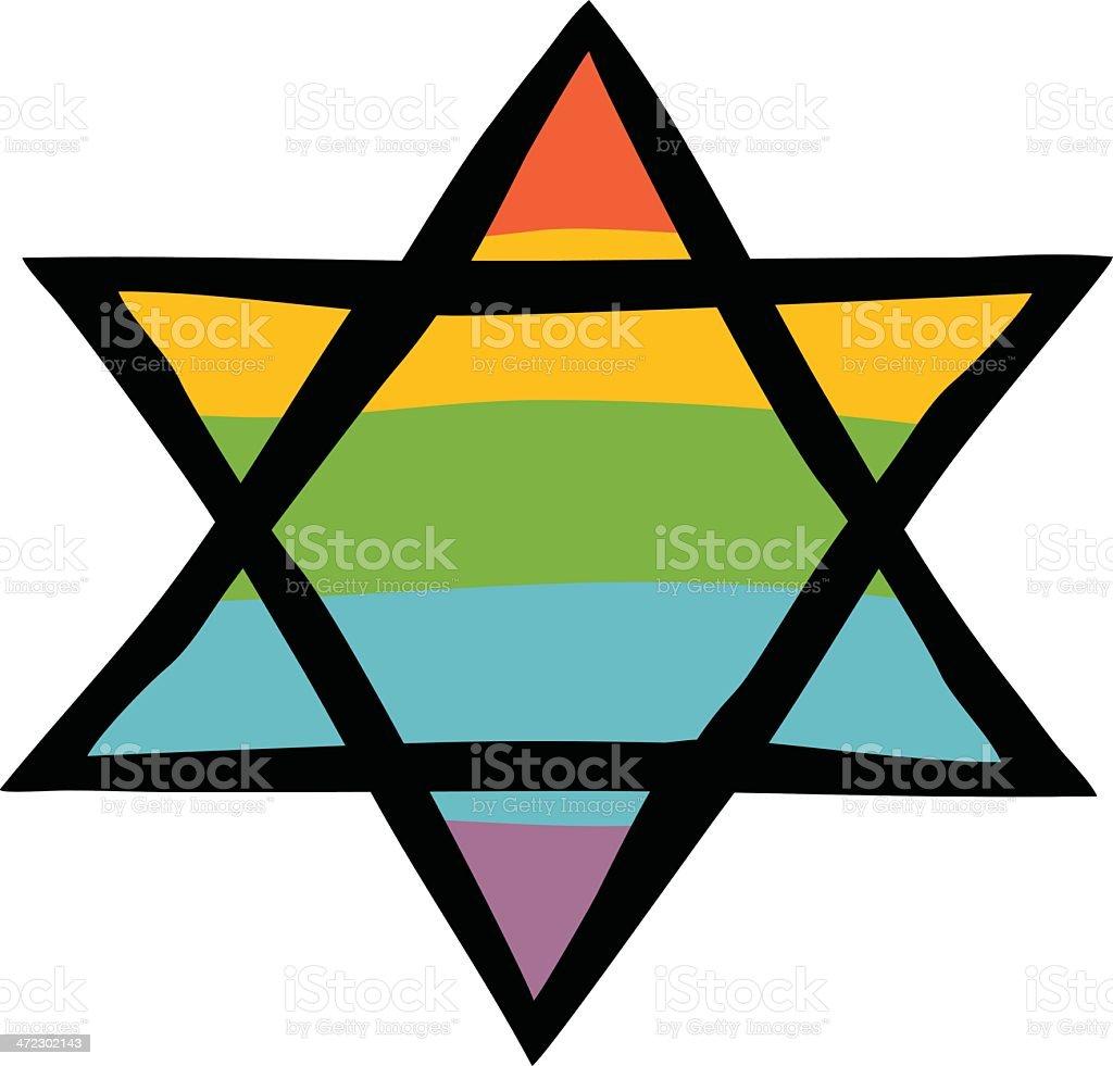 Star of David - Gay royalty-free stock vector art