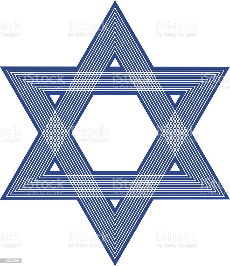 Star Of David Icon royalty-free stock vector art